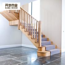 家用梯子抽屉式储物柜多功能梯柜定制实木梯柜梯子台阶移动梯凳