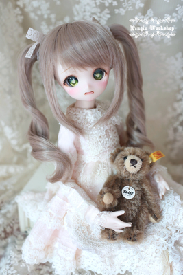 taobao agent PENGIN WORKSHOP BJD/SD/DD heat-resistant wire, hand modified hair, double ponytail LITTLE ANNA