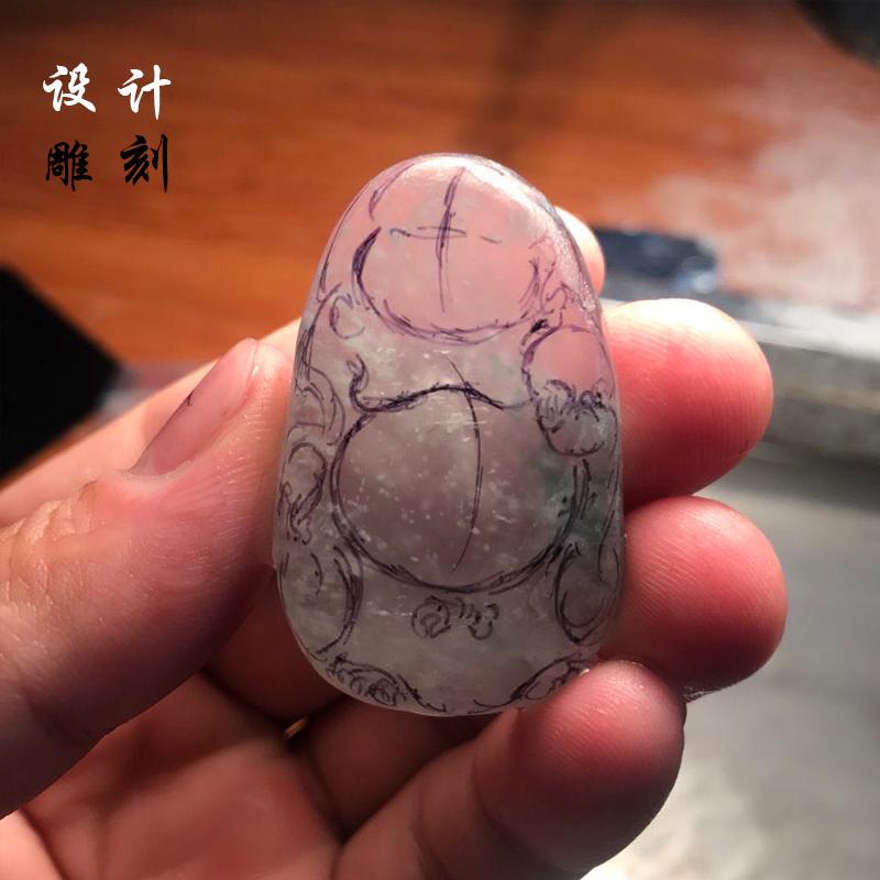 翡翠设计雕刻 来料加工翡翠珠子龙牌 麒麟牌 平安扣 佛 观音 花件