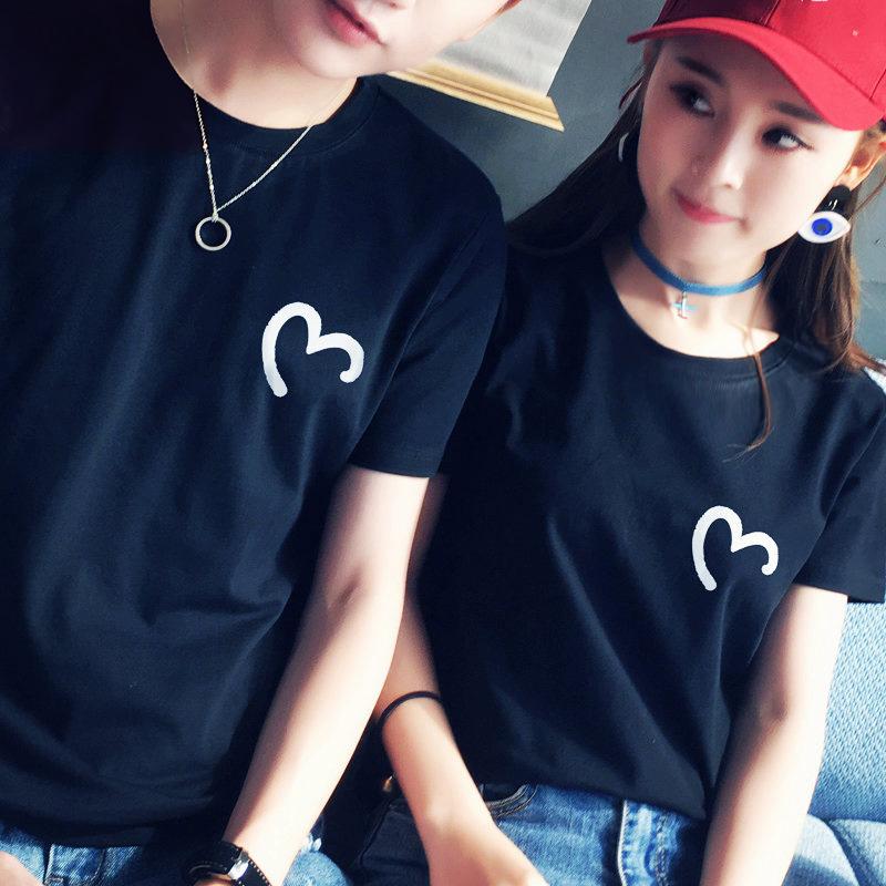 新潮情侣装夏装ins小众气质短袖T恤套装设计感班服roora宽松韩版限100000张券