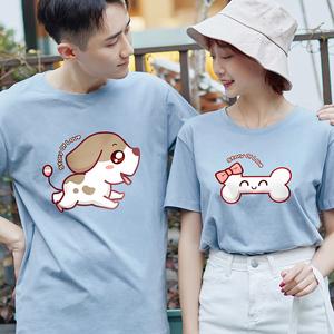 不一样特别的情侣装夏装韩版短袖t恤小众roora设计感春装ins超火