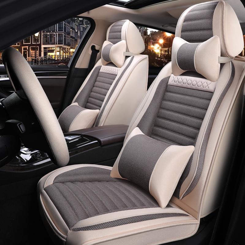 2017種類の大衆道観280 TSI自動シルクロード快適版四季通気性リンネルクッションシートカバー