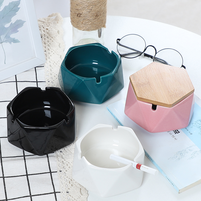 北欧ins陶瓷烟灰缸创意个性时尚防飞灰客厅家用办公室潮流烟灰缸
