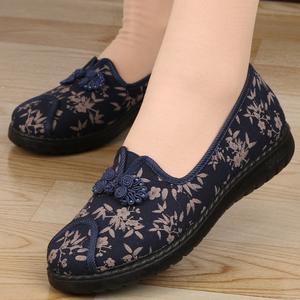 老北京布鞋女鞋春秋季新款平跟防滑中老年妈妈鞋老人女鞋奶奶单鞋