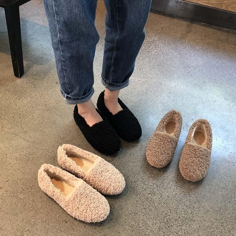 11月30日最新优惠女冬外穿加绒内增高2019新款毛毛鞋