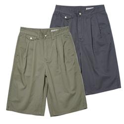 三色宽松斜纹休闲短裤男蓝布屋2020夏季新款日系复古水洗纯色中裤