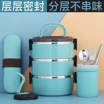 不锈钢保温饭盒上班族1人便携学生大容量儿童便当盒双层餐盒套装