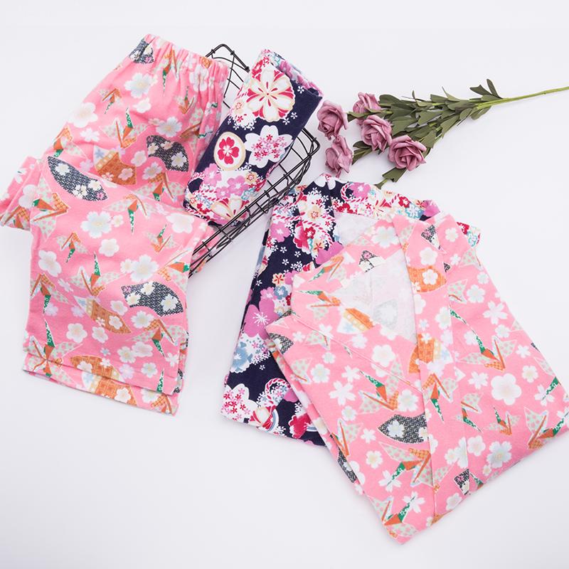 【bella家】镇店之宝 独家磨毛保暖和风甚平印花和服睡裙睡衣套装