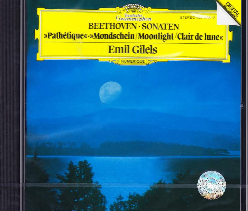 现货【中图音像】贝多芬月光钢琴奏鸣曲CD/吉列尔斯 4000362 环球