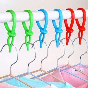 加长晾衣杆防风卡扣塑料硅胶挂钩防滑衣架固定钩子衣服万能晾晒绳