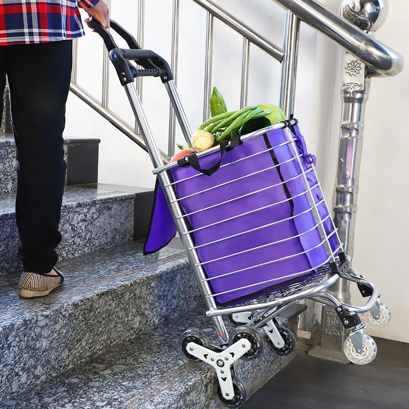 买菜车小拉车家用轻便爬楼梯老人菜篮拉杆车购物车折叠便携小推车