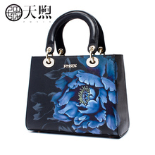 Tianyu Women's Bag 2019 New Atmospheric Handbag Women's Fashion Large Capacity Cowskin Kelly Bag One Shoulder Slant Women's Bag
