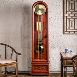 汉时钟表落地钟客厅欧式机械座钟简约怀旧赫姆勒装饰收藏立钟209