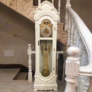 汉时欧式落地钟客厅实木创意时尚立式钟报时钟机械座钟现代HG5012