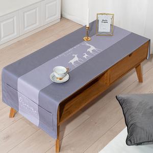 欧式简约桌旗桌布茶几桌布防水防油免洗电视柜盖布餐桌布艺现代