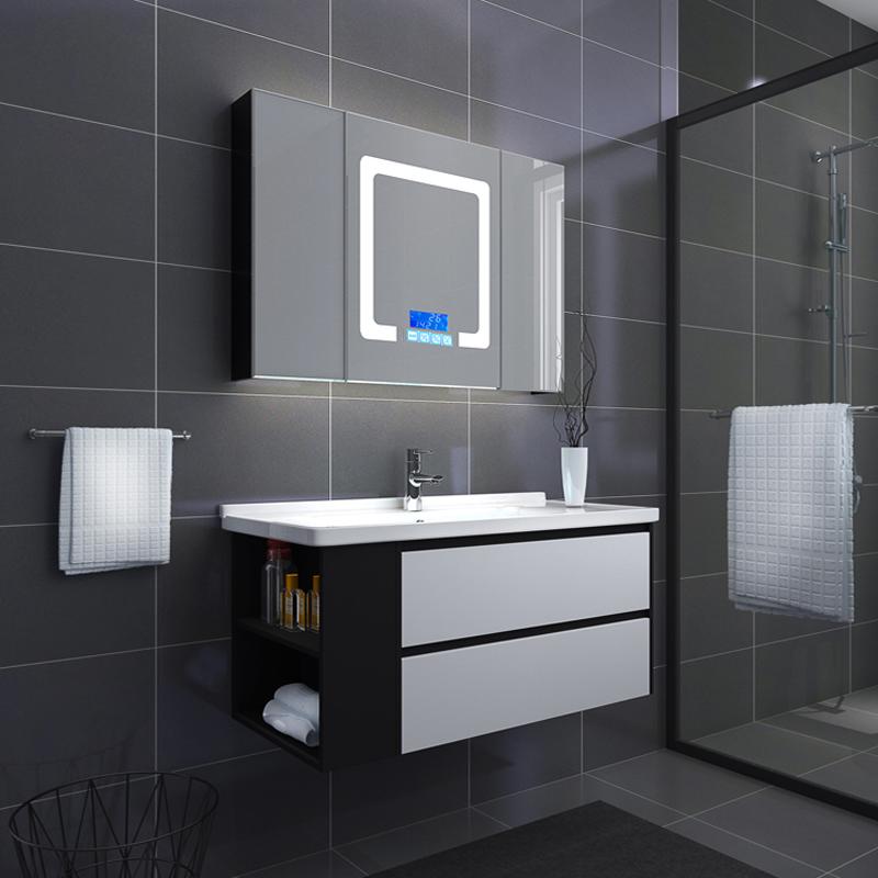 热销69件假一赔十北欧智能实木挂墙式镜柜洗脸浴室柜