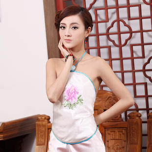 倚嘉民族风中国风吊带女人性感成人挂脖女士肚兜兜女士 牡丹花开