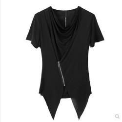 新夏装短袖半袖潮男T恤日韩蝙蝠衫非主流韩版男装假两件上衣夏季