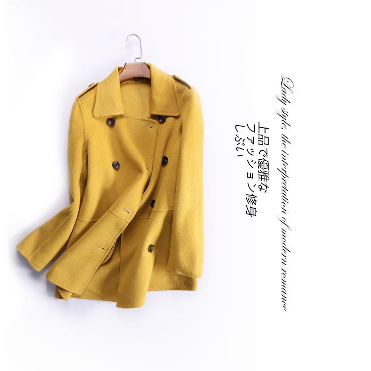 ~ Качество рекомендуется! Обтекаемый и аккуратными атмосфера Англии качества ручной 2 сторонняя шерсти пальто куртки MN2705