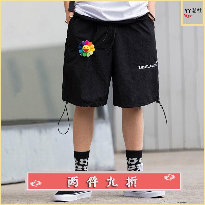 YY fashion club untildeath summer drawstring casual shorts men and women sports Capris hip hop national trend