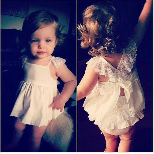 Guoma 17ins summer girls dress baby lace princess skirt two piece suspender skirt shorts suit stripe