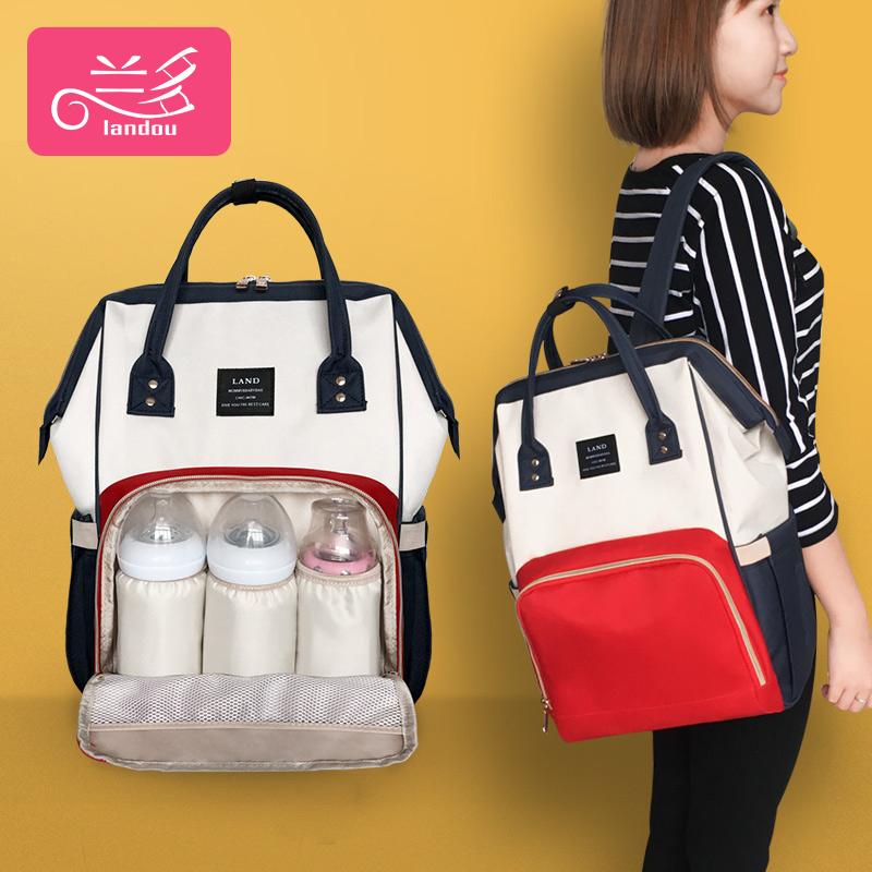 兰多妈妈包母婴包女2019新款时尚多功能大容量双肩婴儿外出妈咪包 - 封面