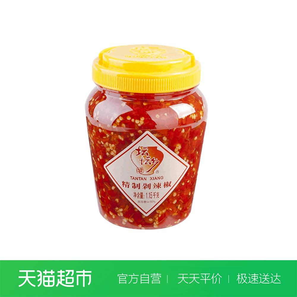 坛坛乡剁辣椒1150g剁椒 辣椒酱拌饭酱拌面(本商品含辣椒籽胚芽)