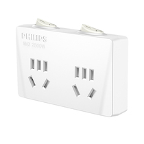 Philips Philips One turn two socket Converter plug 2-bit split-control wireless conversion plug-in plug-