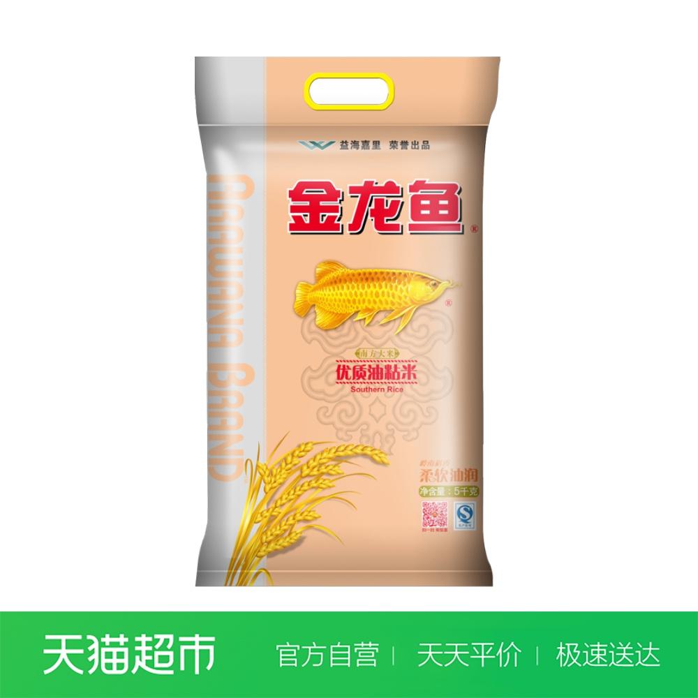 金龙鱼  优质油粘米5KG 南方大米稻香米 人气爆品
