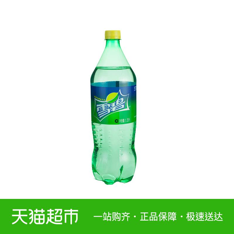 雪碧汽水 1.25L/瓶 大包装家庭分享装 可口可乐出品