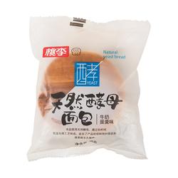 桃李天然酵母面包(牛奶蛋羹味)75g/袋零食糕点美食小吃休闲食品