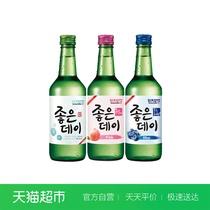 4清酒好天好饮果味初饮初乐原装进口超水360ml瓶韩国烧酒