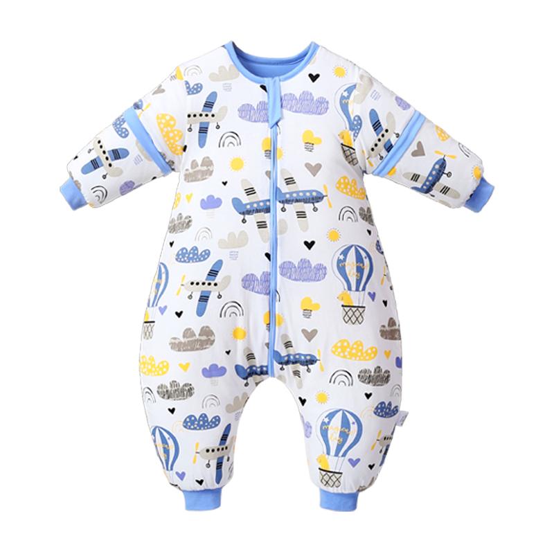 南极人婴儿秋冬款婴幼儿分腿睡袋