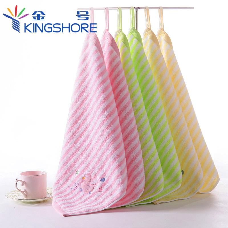 Золото No. чистый хлопок Крюк-платок детские Полотенце для мытья посуды на младенца Маленькое полотенце