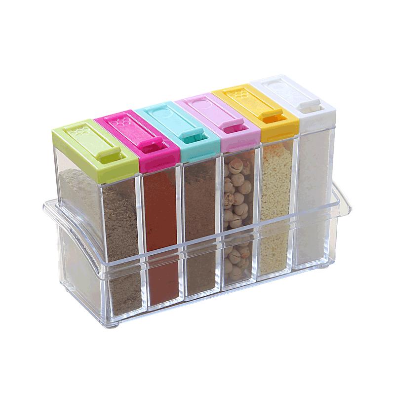 【 рысь супермаркеты 】ИЛИ творческий шесть сборка прессование стиль вкус коробка приправа прозрачный в коробку 2045