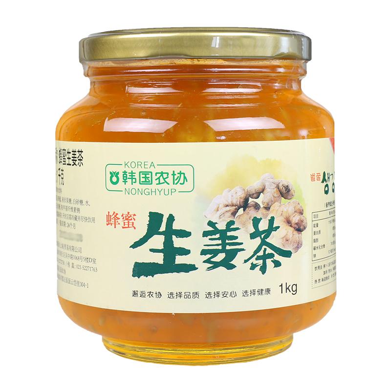 Импорт из южной кореи корея сельское хозяйство объединение мед имбирь чай 1kg/ бутылка импорт порыв напиток чай