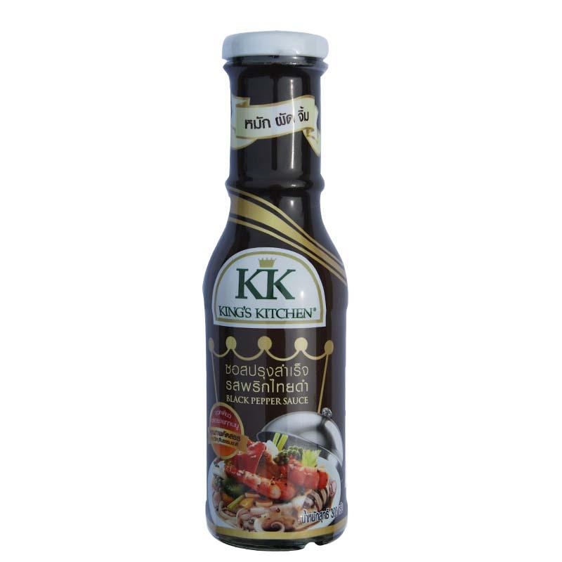 ~天貓超市~泰國 調味醬KK泰式黑胡椒醬300g 瓶 牛排等配料