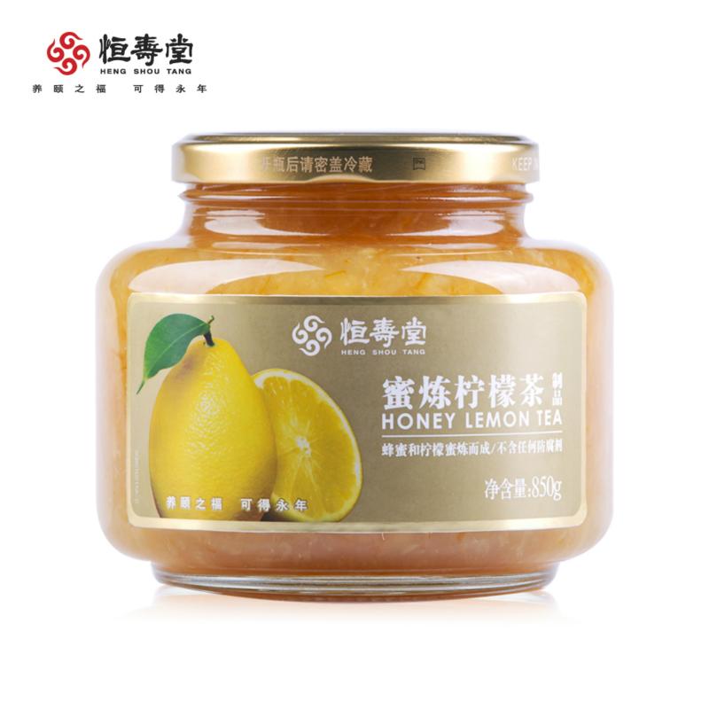 ~天貓超市~恒壽堂 蜜煉檸檬茶850g 蜂蜜檸檬茶果味茶 850g 罐