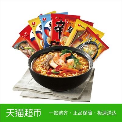 农心 辛拉面辣白菜8连包 组合装方便面韩国泡面 非火鸡面