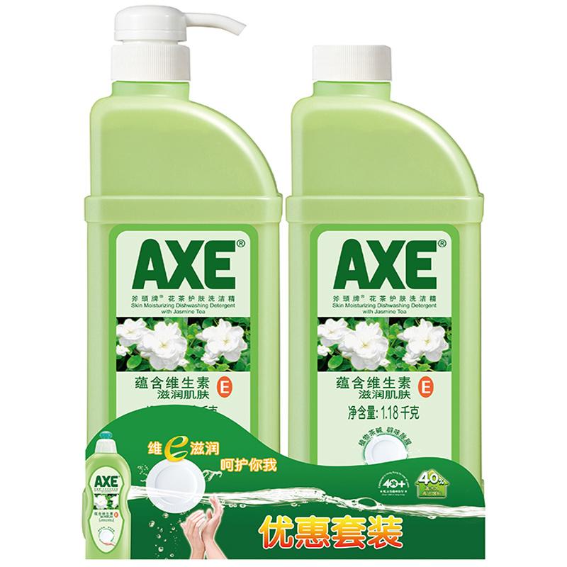 ~天貓超市~AXE 斧頭牌洗潔精花茶護膚1.18kg^~2植物茶除腥