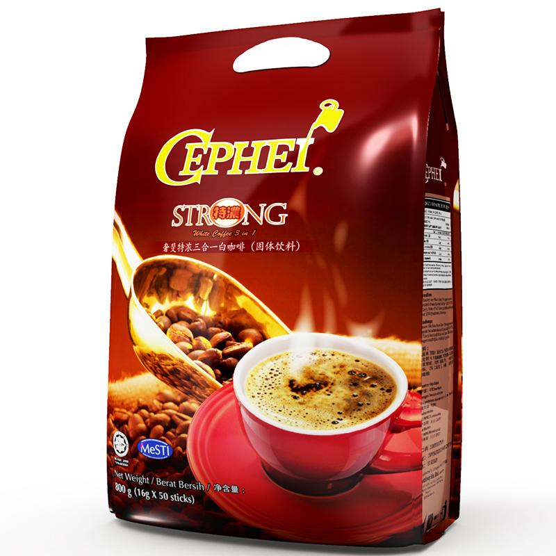 ~天貓超市~馬來西亞 奢斐 特濃三合一速溶咖啡粉800g50支 袋
