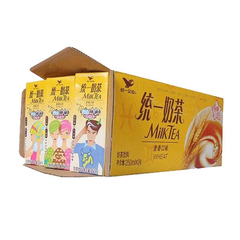 ~天貓超市~統一 奶茶(麥香味)250ml^~24盒 箱 早餐 順滑