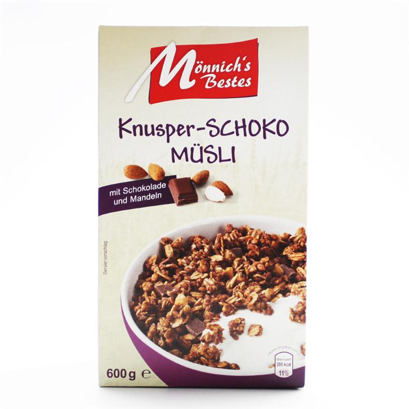 ~天貓超市~德國 好麥奇穀物衝飲巧克力脆麥片600g即食免煮