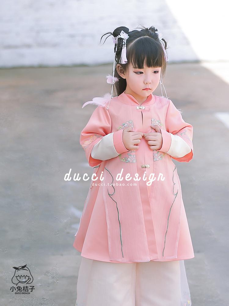 汉服女童连衣裙秋装长袖民族风古装常服儿童中式复古刺绣公主裙券后115.00元