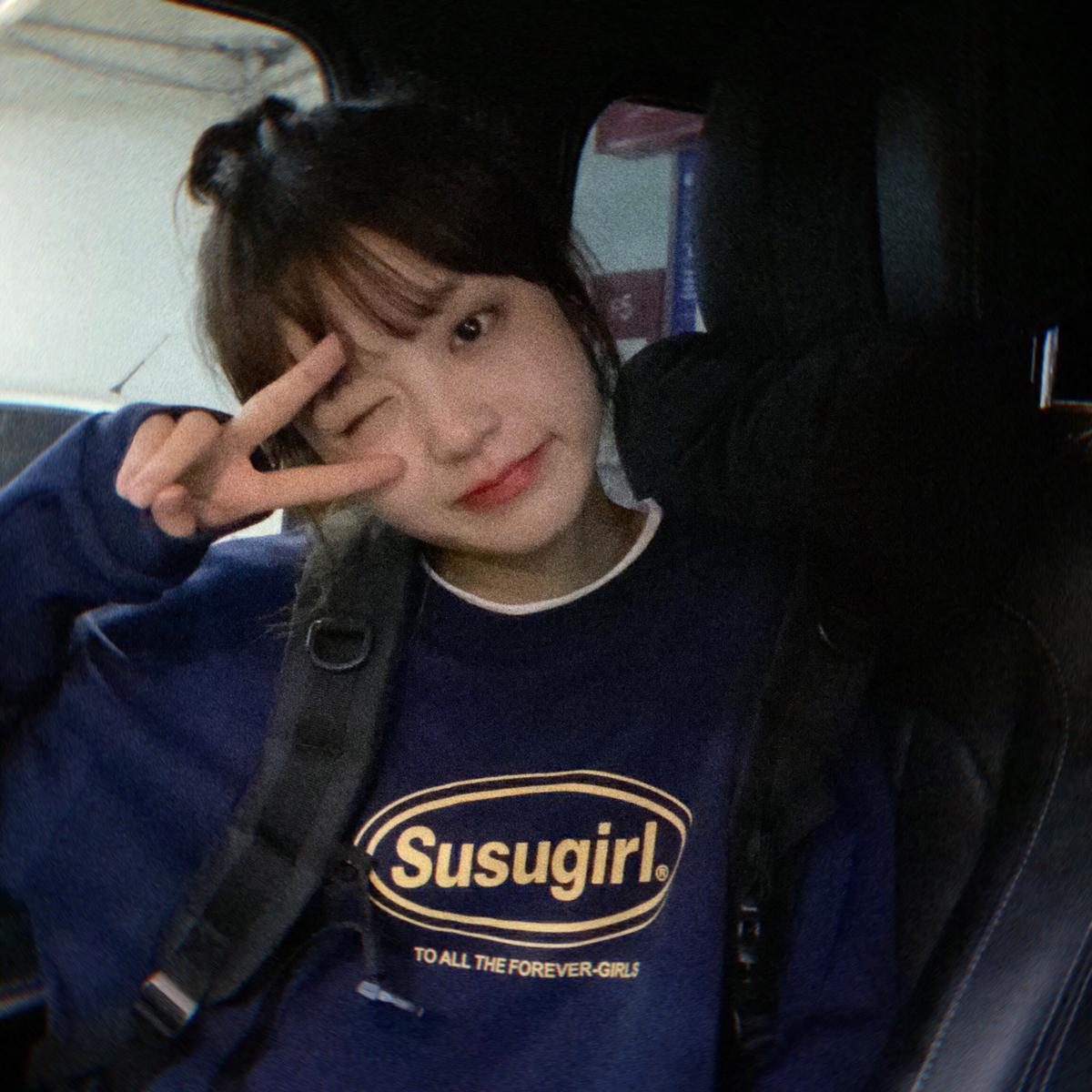 SUSUGIRL原创 logo5色假两件潮休闲宽松显瘦圆领上衣卫衣韩女20秋