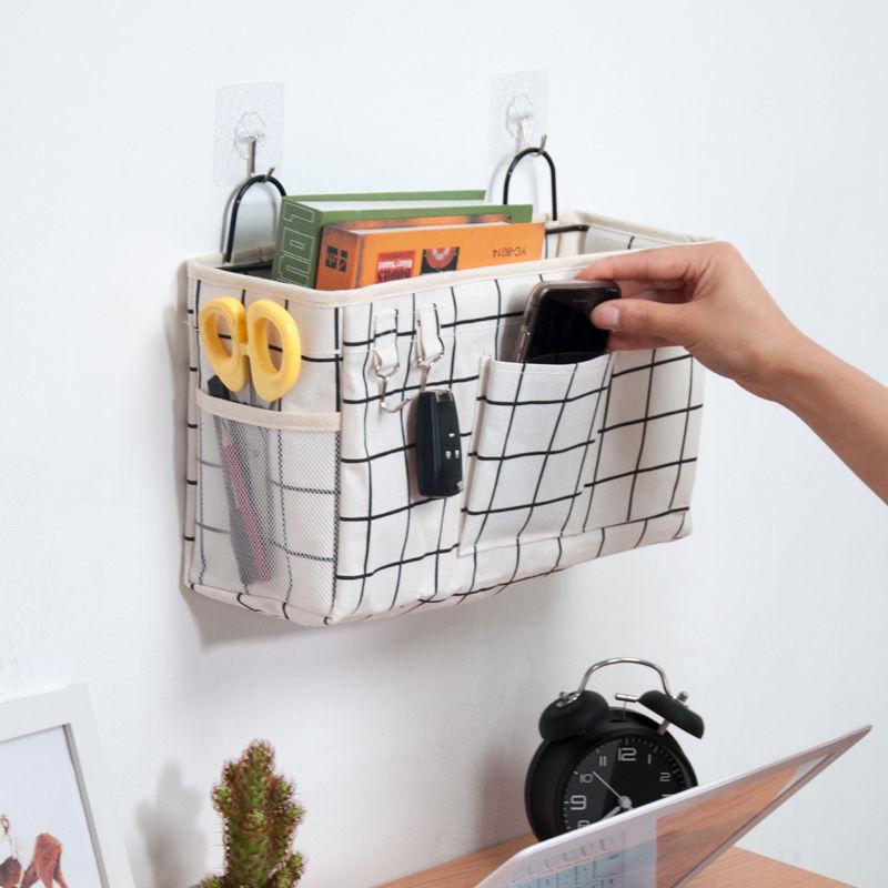 学生用墙挂杂物收纳袋 书桌收纳袋挂袋大容量储物袋 挂墙置物袋