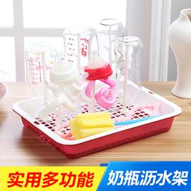 婴儿奶瓶干燥架防尘沥水架晾干收纳支架宝宝水杯晾晒架放杯架托盘