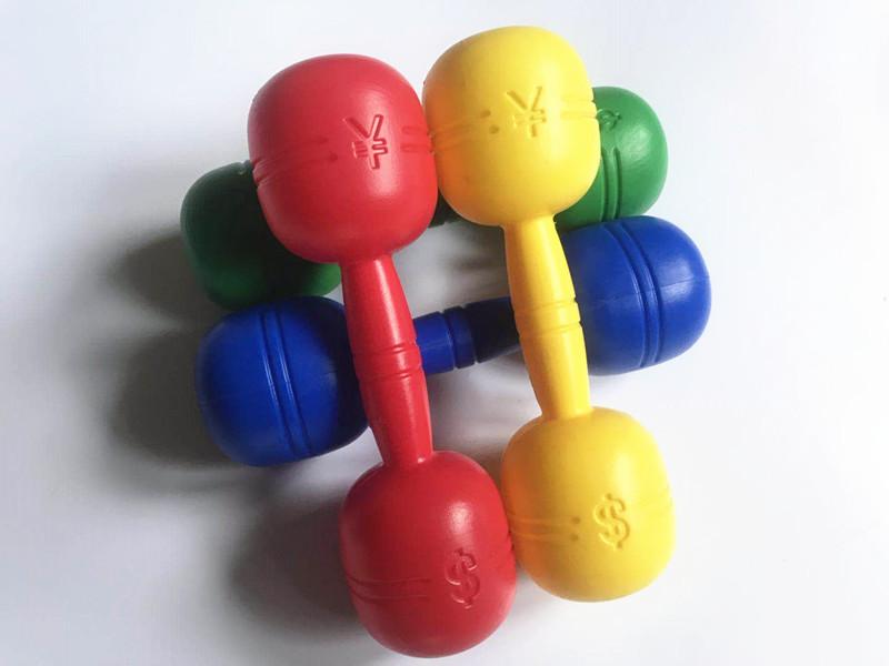幼儿园早操器械道具儿童大号有声哑铃幼儿健身体操舞蹈铃塑料哑铃限9000张券