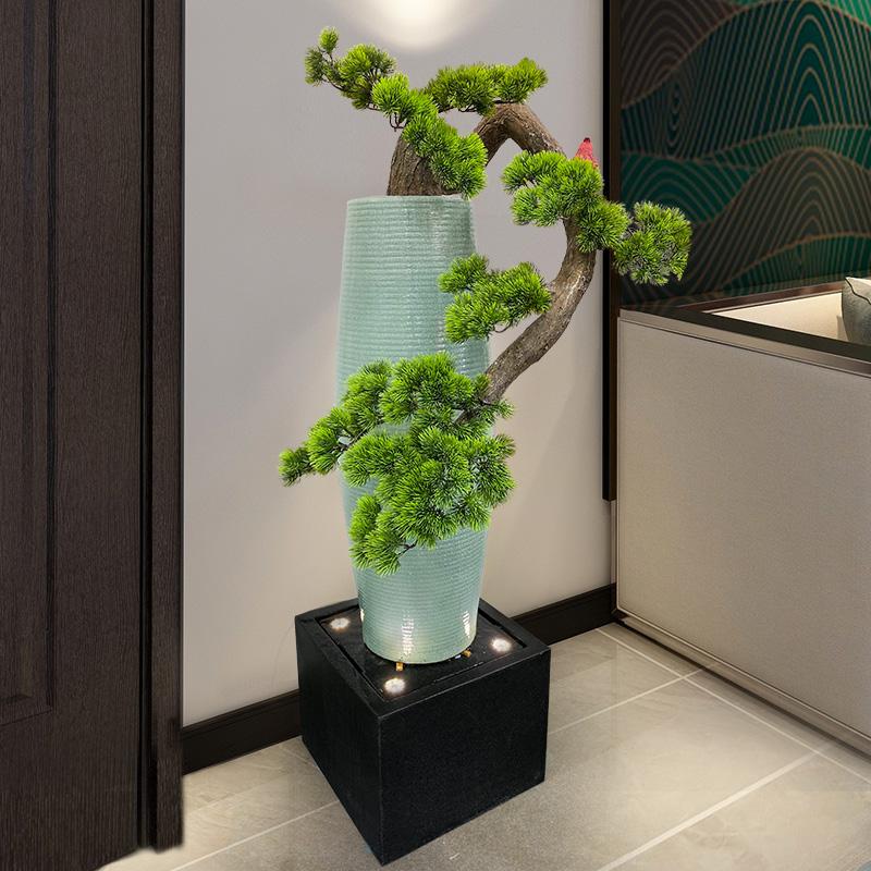 水乡故事新中式门厅装饰流水招财造景创意摆件客厅室内庭院水景观
