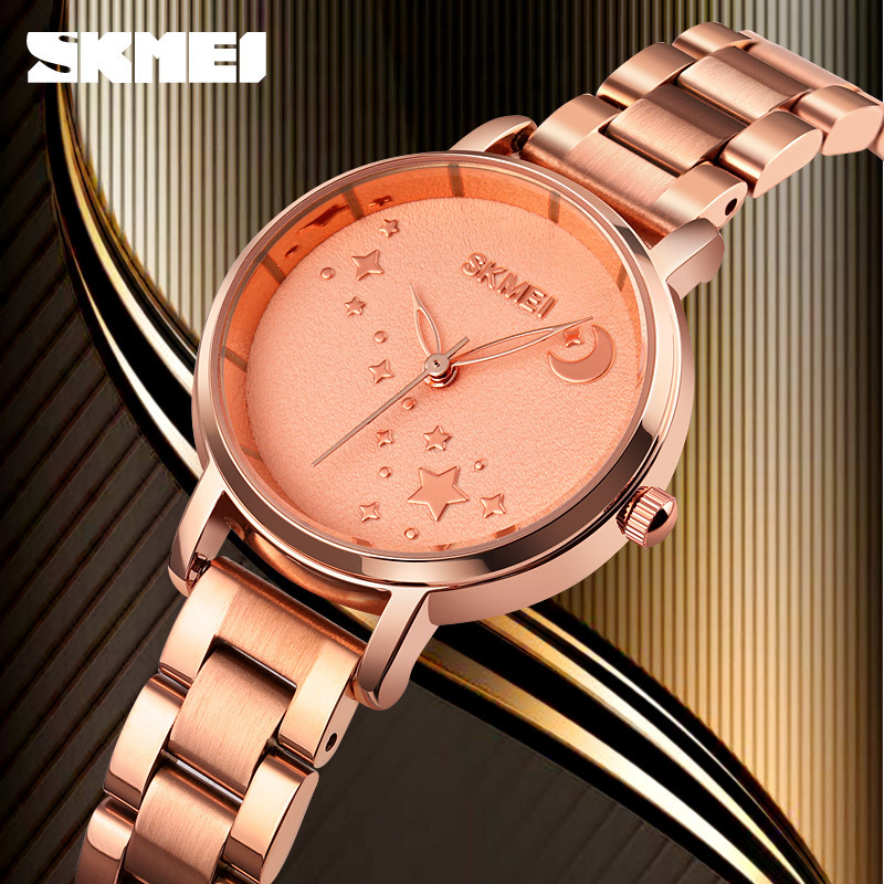 Time beauty trembling, female crown, spiral tiktok pointer butterfly double button stainless steel watch